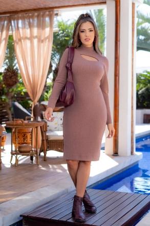 Vestido Malha Luciana Pais Canelada 93087