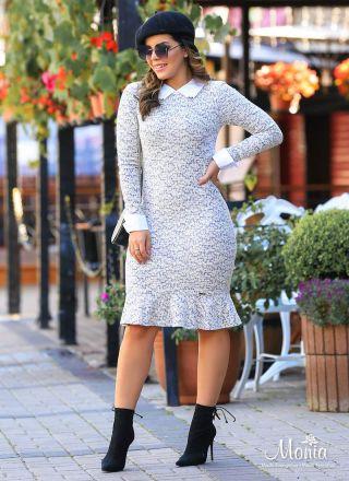 Vestido Malha Tweed Monia Moda Evangélica  92154