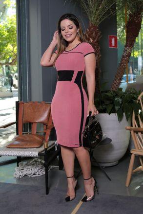 Vestido Malha Viscose com Forro Kauly Moda Evangélica 2568