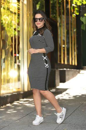 Vestido Montaria Listrado Luciana Pais 92448