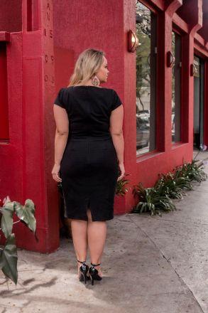Vestido Plus Size com Forro Moda Evangélica Kauly 2426