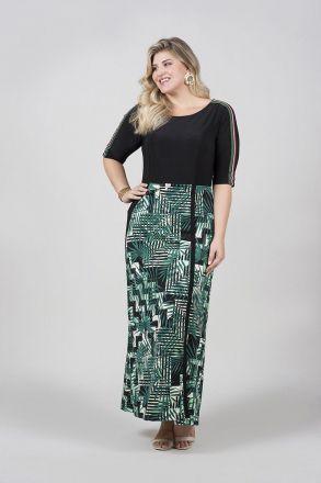 Vestido Plus Size Corpo Malha It Saia Alfaiataria com Elastano Kauly Moda Evangelica 2503