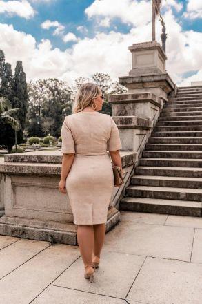 Vestido Plus Size em Malha Kauly Moda Evangélica 2385