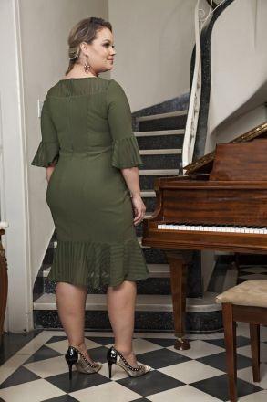 Vestido Plus Size Malha Kauly 2190