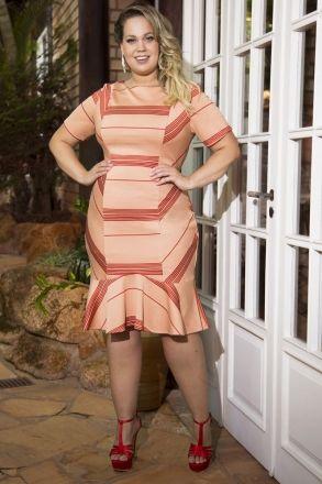 Vestido Plus Size Malha Kauly 2211