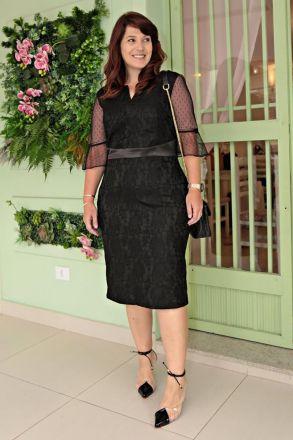 Vestido Plus Size Midi Renda Moda Evangélica Kauly 2646