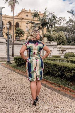 Vestido Plus Size Tubinho em Malha com Forro Kauly Moda Evangélica 2384