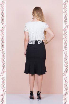 Vestido Renda com Forro Moda Evangélica Kauly 2368