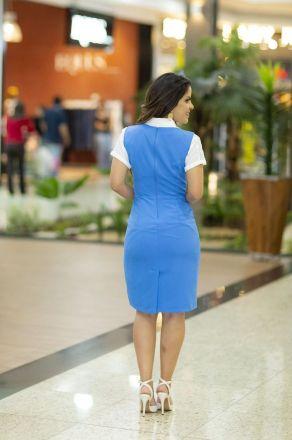 Vestido Tubinho em Crepe Detalhe Renda LP 92249