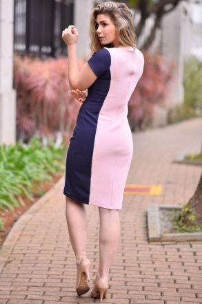 Vestido Tubinho Malha Kauly Moda Evangélica 2353