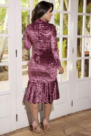 Vestido Veludo Kauly 2207