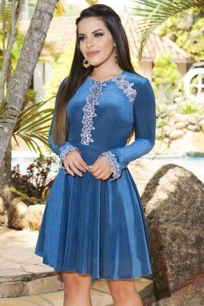 Vestido Veludo Luciana Pais 92155