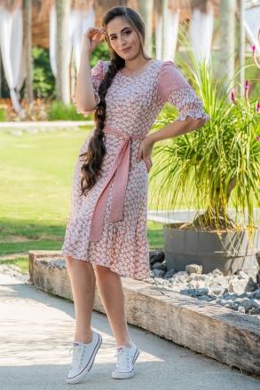 Vestido Viscolinho Mix de Estampas Luciana Pais 93014