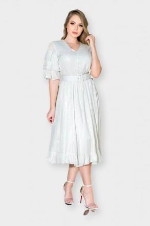 Vestido Viscose Estampa Iridescente Kauly 2896