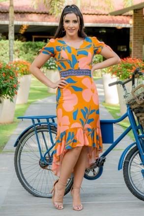 Vestido Viscose Luciana Pais Estampado 92949