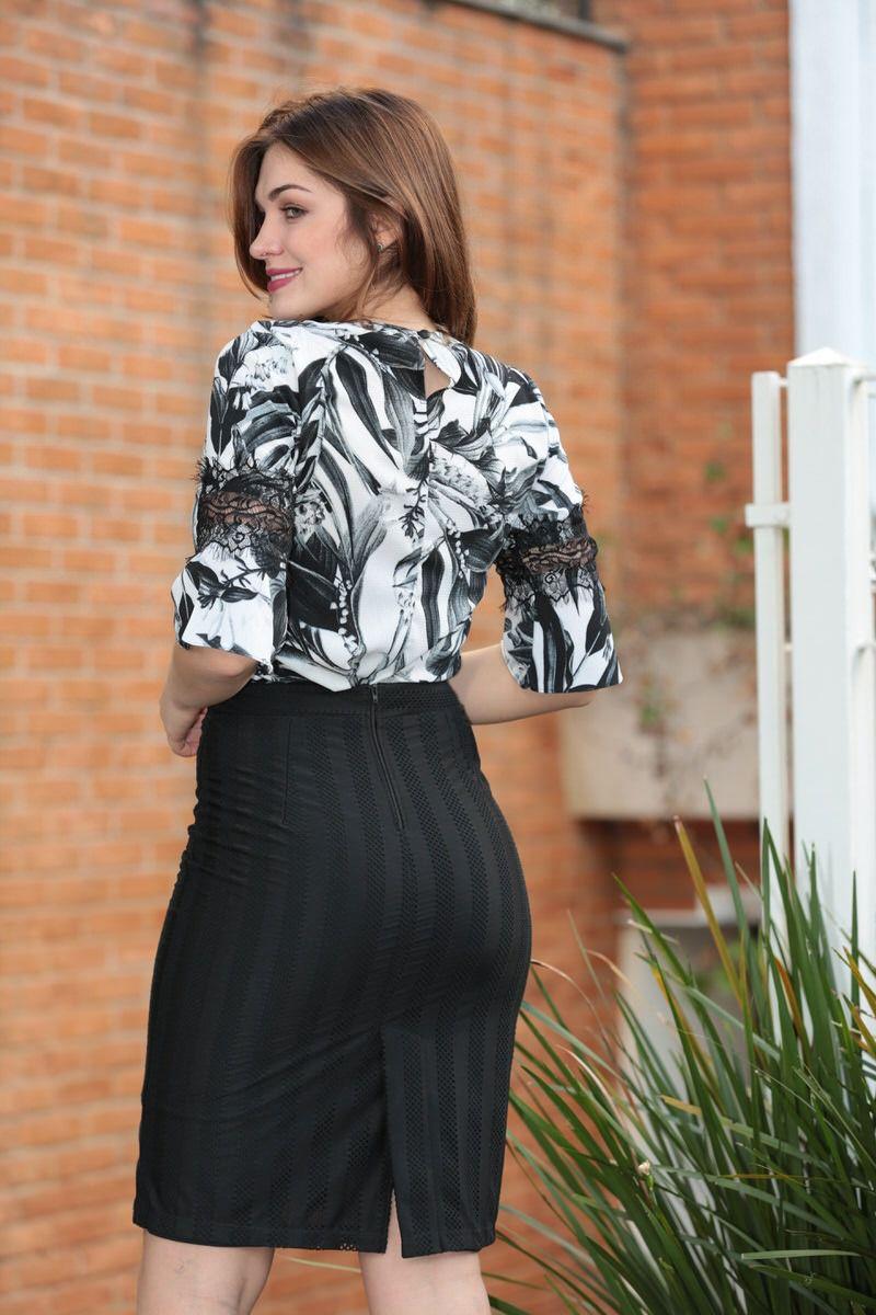 Blusa em Crepe com Detalhe Kauly 2341
