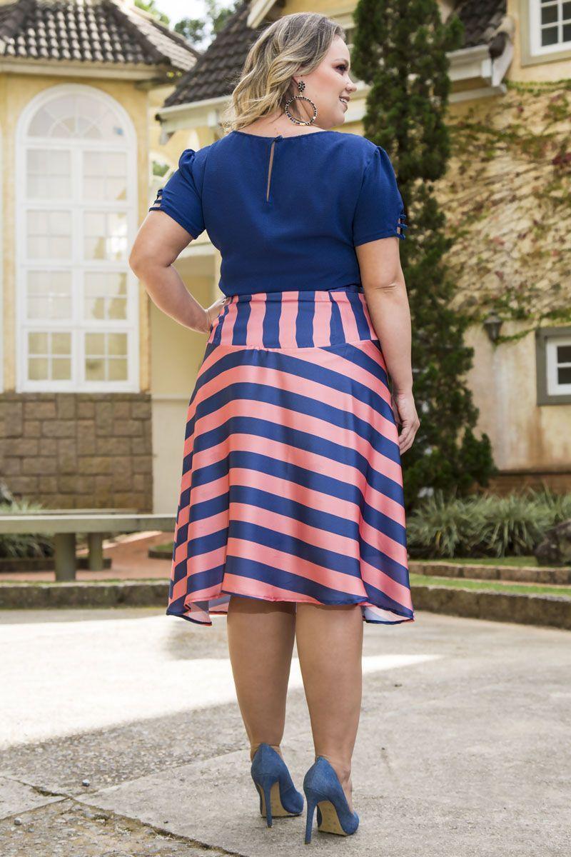 Blusa Plus Size Decote Kauly 2246