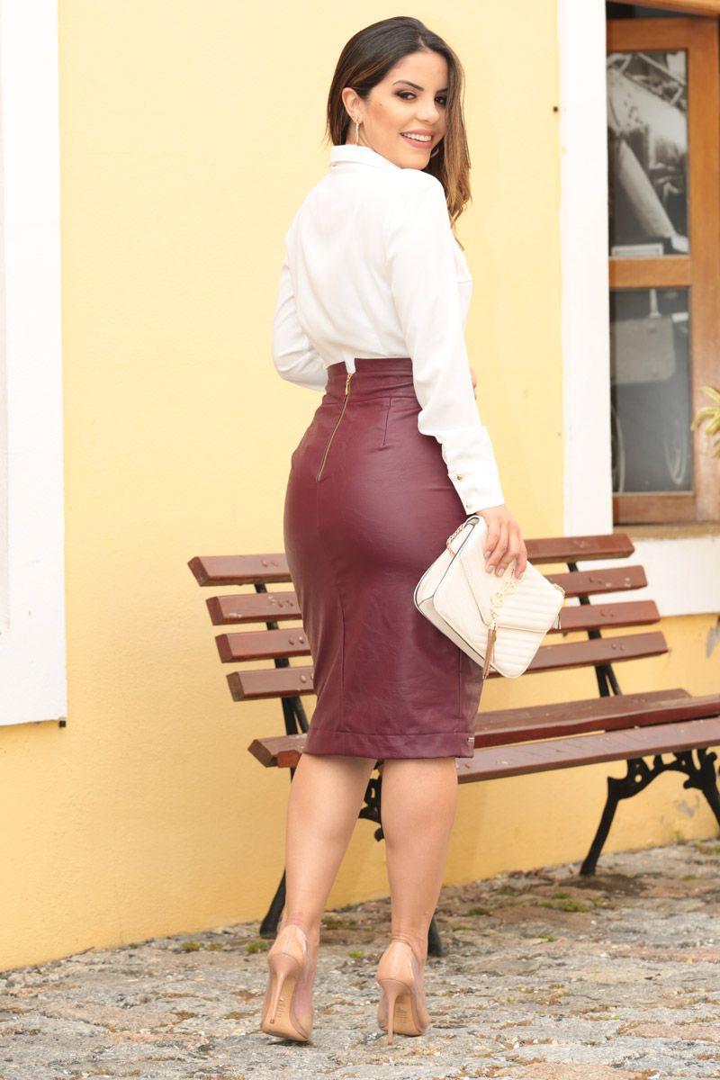 Camisa Crepe Transpassada e Botoes Kauly Moda Evangélica 2557
