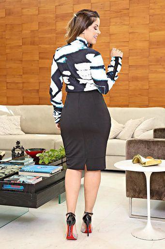 Camisa Moda Evangélica Crepe Kauly 2626