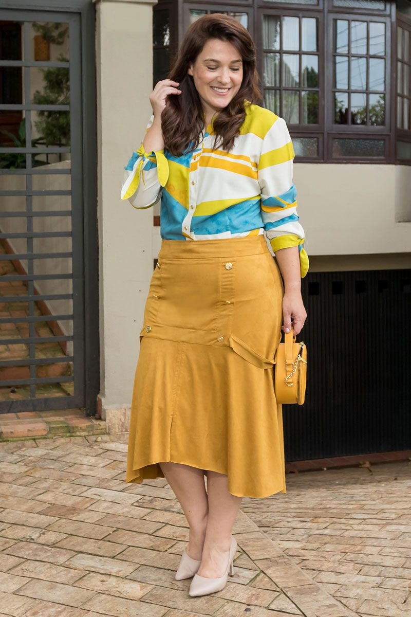 Camisa Plus Size Viscose Exclusiva Kauly Moda Evangélica 2539