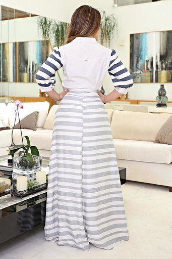 Camisa Short Moda Evangélica Linho Kauly 2619