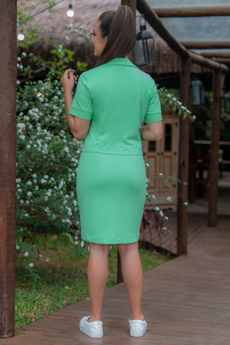 Camisa Twinset Verde Luciana Pais Malha Crepe com Elastano 93144