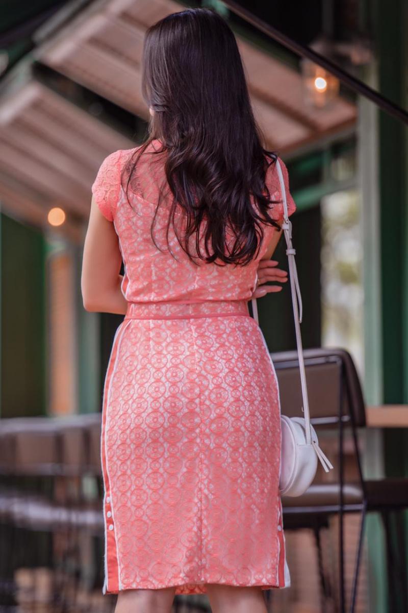 Vestido Tubinho em Renda com Forro Luciana Pais 92316