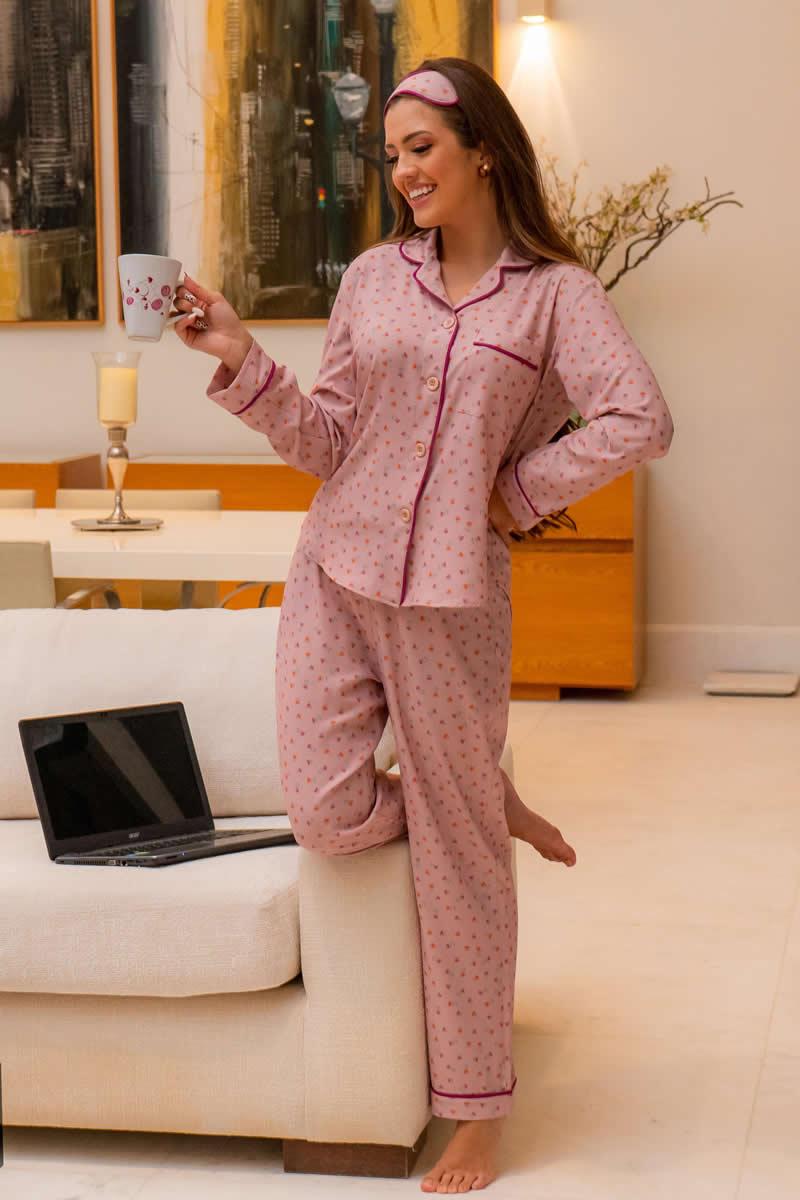 Pijama em Viscose Luciana Pais 93114