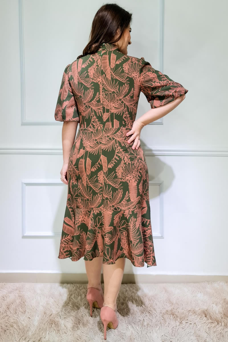 Plus Size Vestido Kauly Alfaiataria Estampado 3108