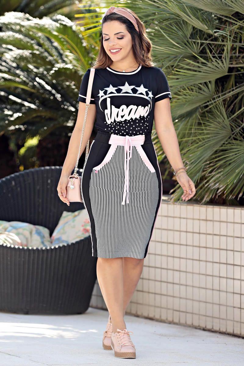 T-shirt bangkok estampa foil Luciana Pais 92554