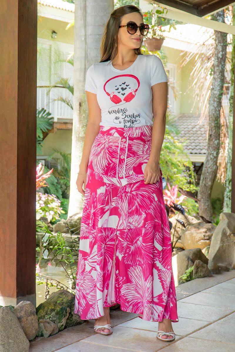 T-shirt Luciana Pais Malha Estampada 92964