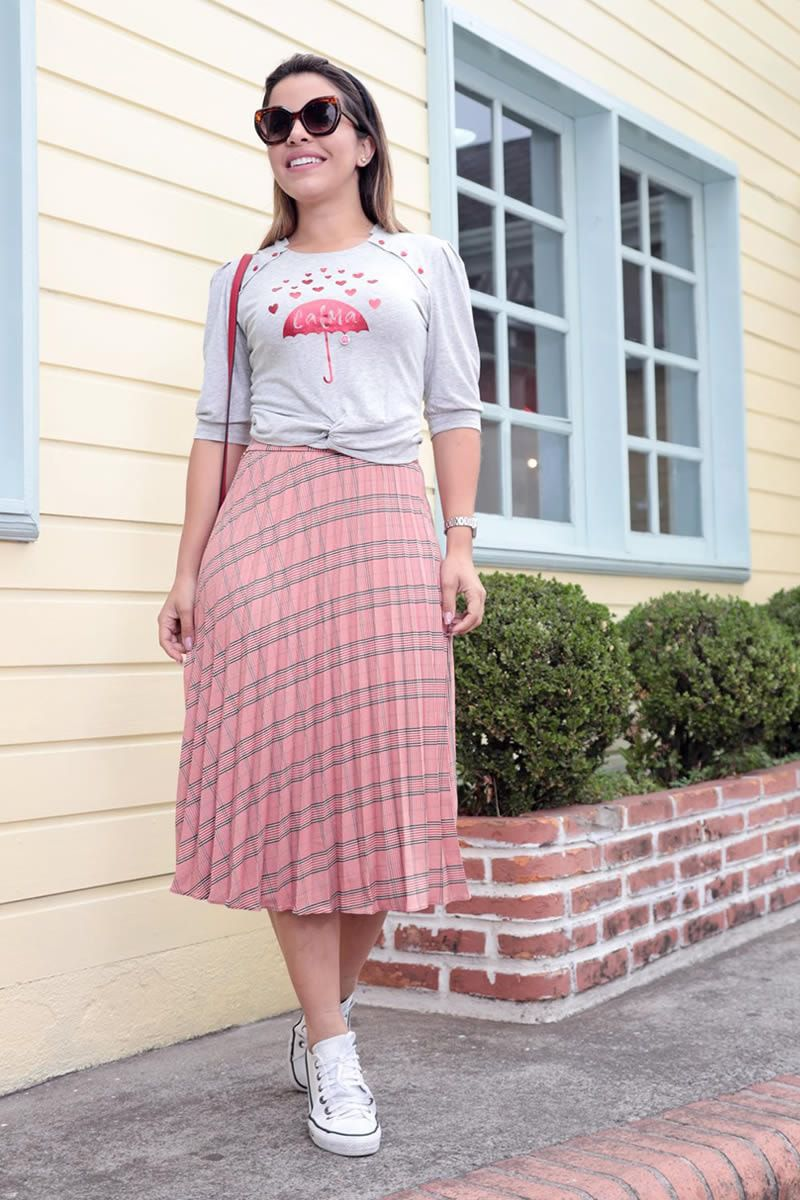 T-shirt Malha Mescla com Estampa Luciana Pais 92562