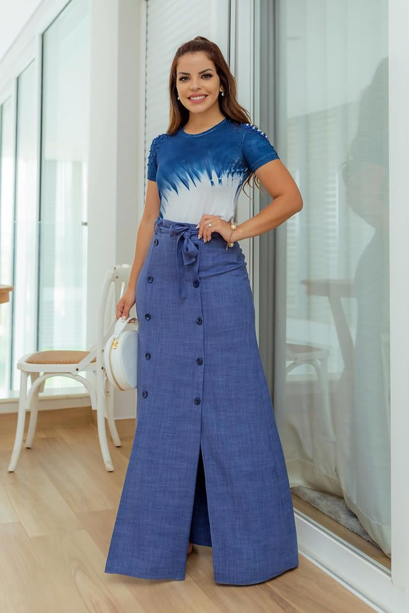 T-Shirt Malha Tye Dye Bordada em Perolas Luciana Pais 92702
