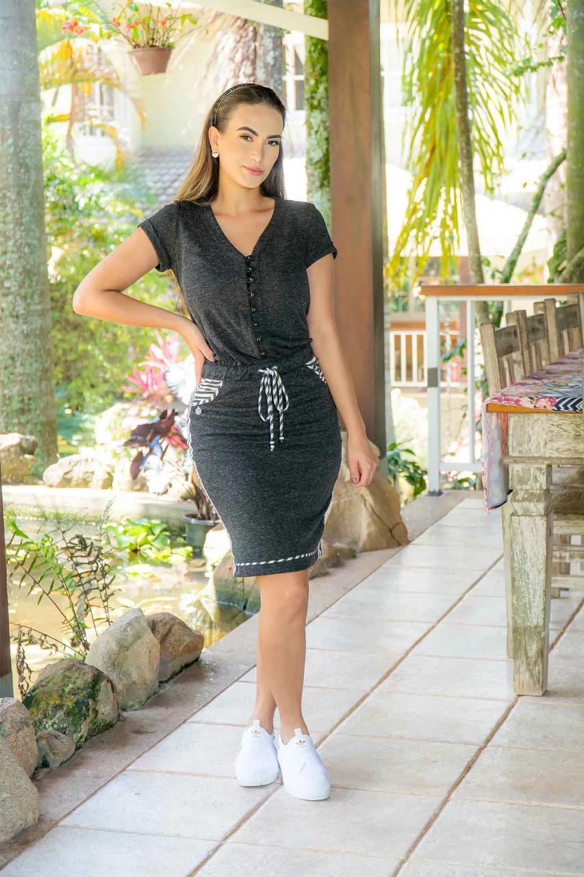 Vestido Bluse Luciana Pais Malha Eco 92971