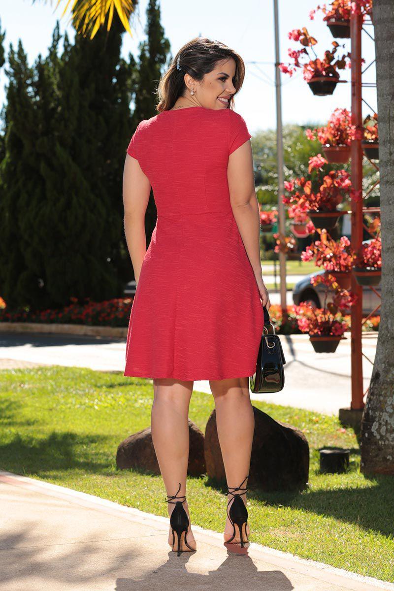 Vestido Boucle Linho com Forro Luciana Pais 92497