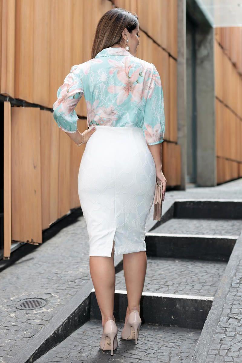 Vestido Bandagem Estampa Exclusiva da Kauly 2700