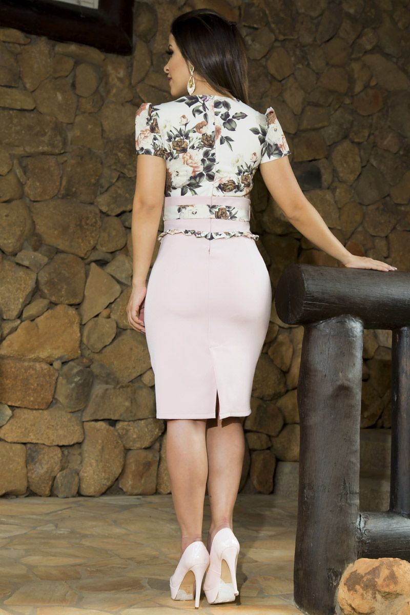 Vestido Crepe Acetinado Luciana Pais 92160