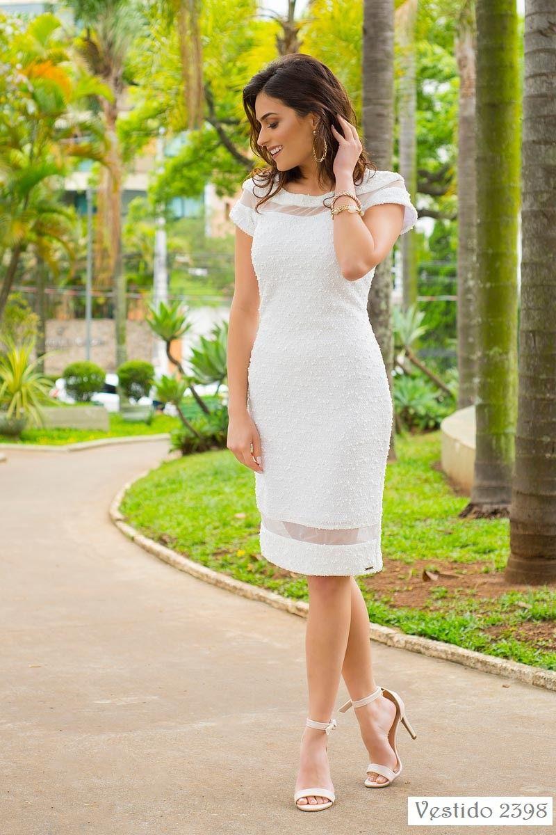 Vestido Crepe Forrado Kauly Moda Evangélica 2398