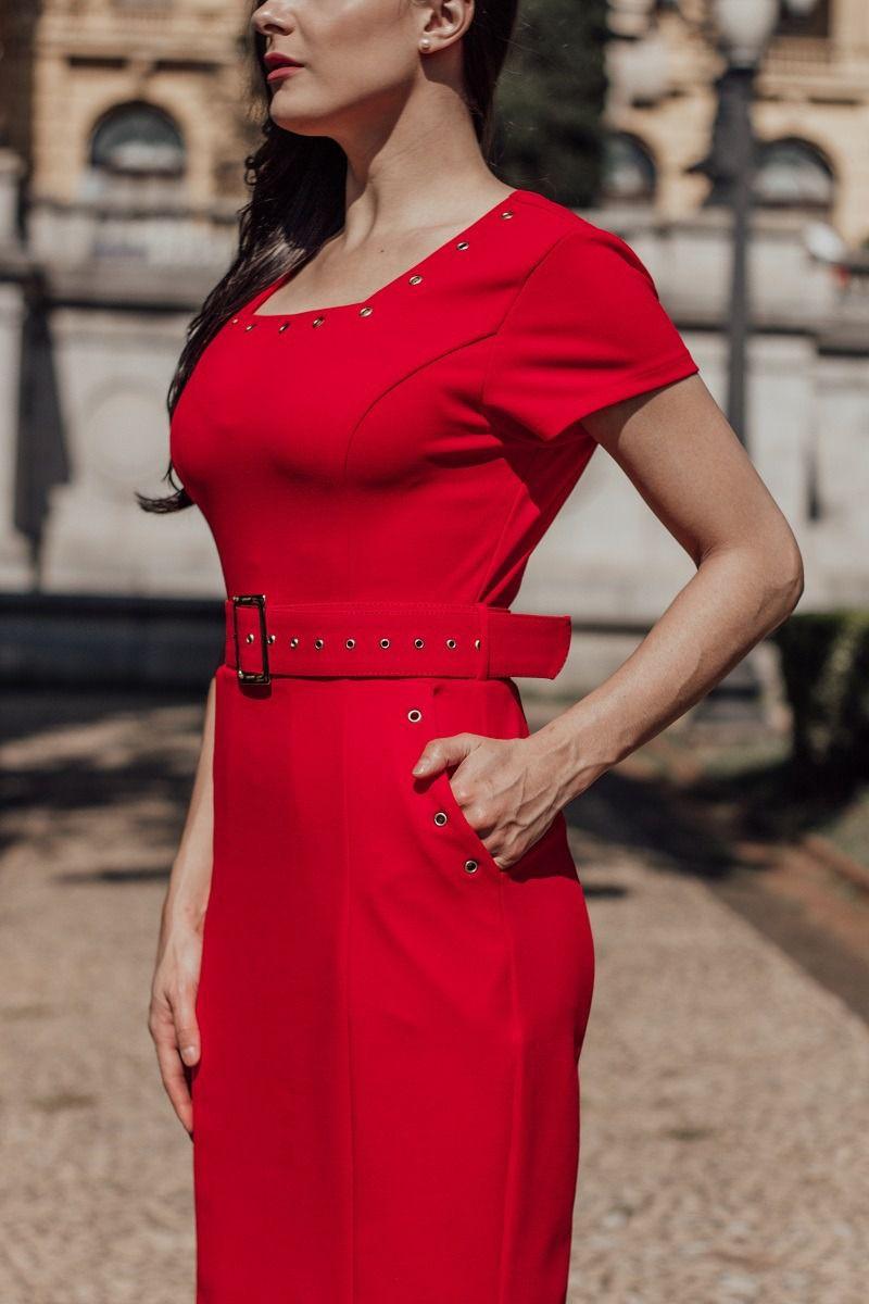 Vestido Crepe Moda Evangélica Luciana Pais 92213
