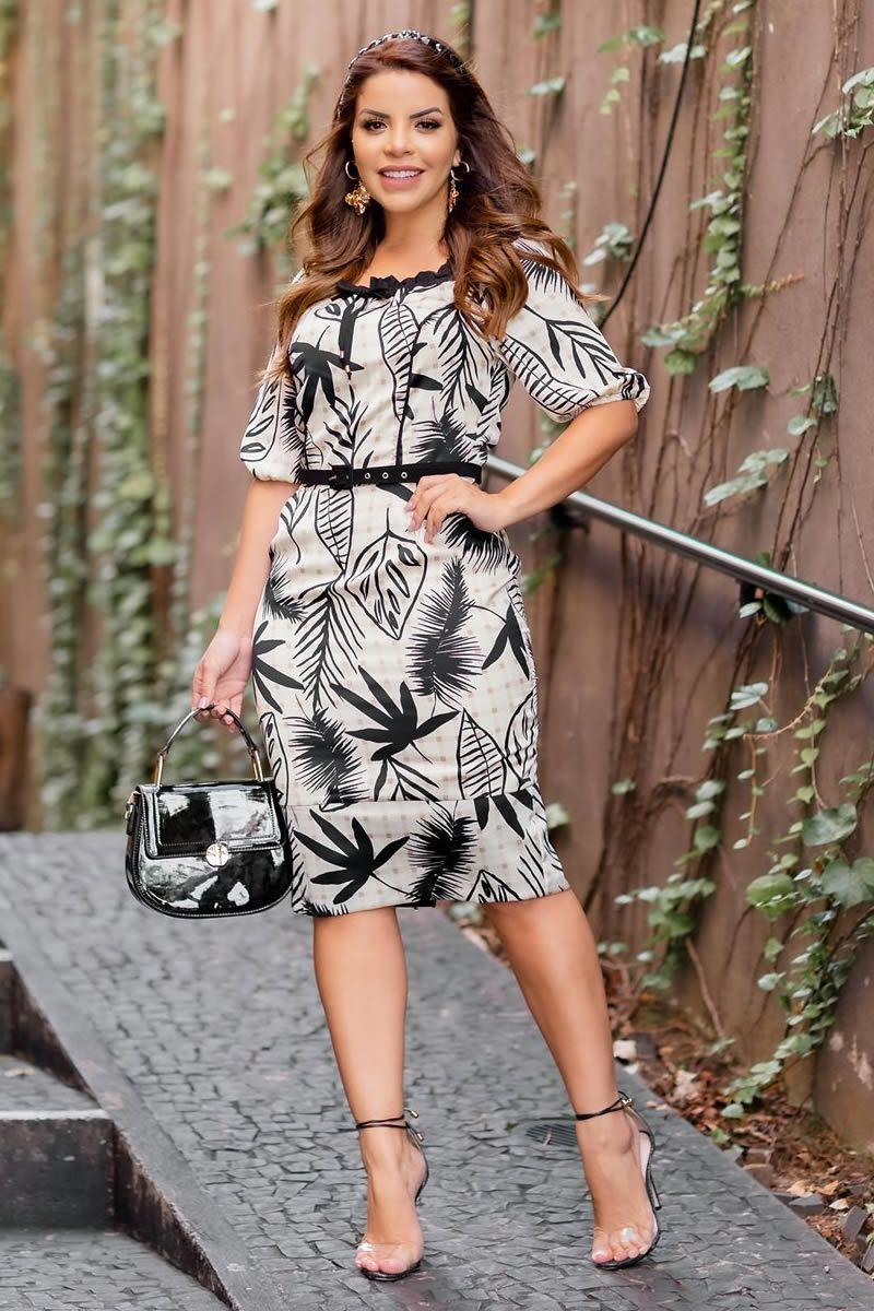 Vestido Crepe + Vestido Sarja + Vestido Seda Kit Kauly