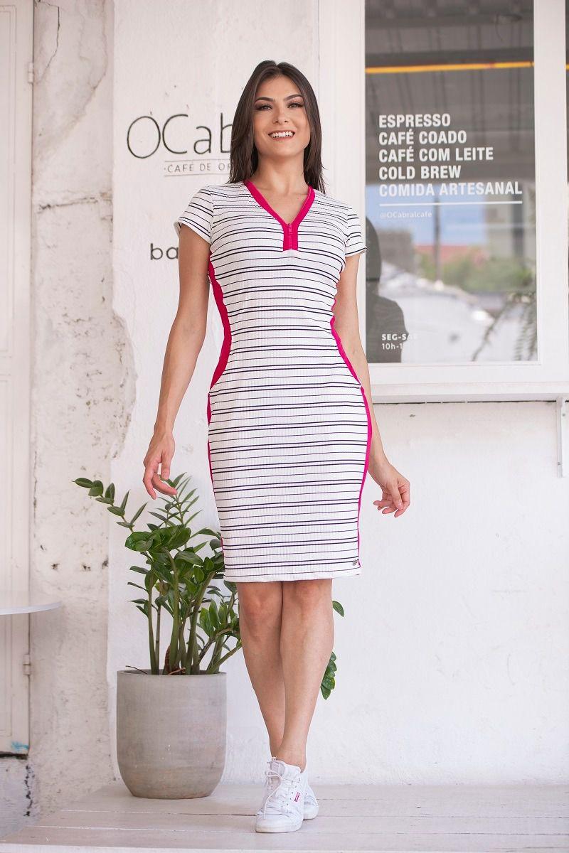 Vestido em Malha Canelada Luciana Pais 92371