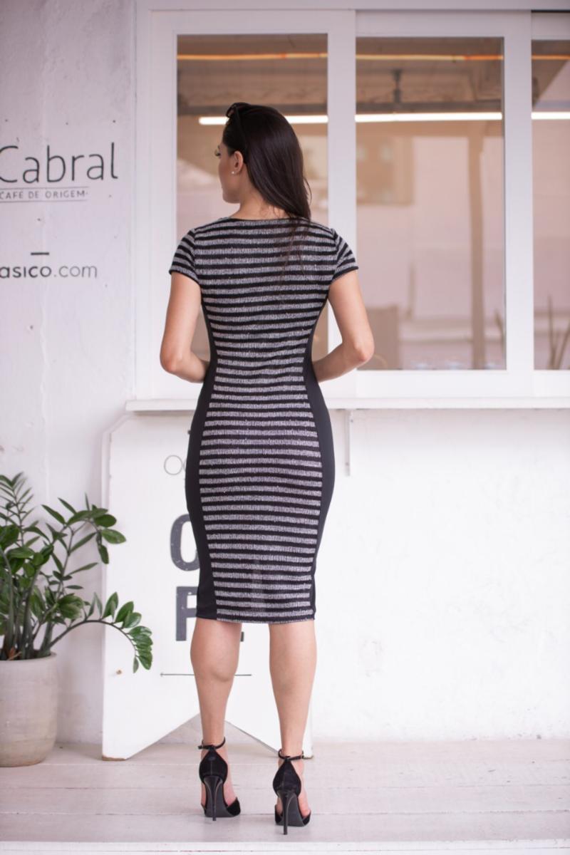 Vestido em Malha com Forro Detalhe Zíper Luciana Pais 92358