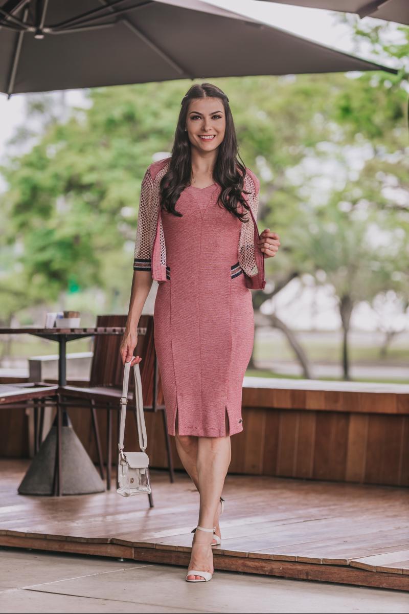 Vestido em Malha Detalhe Lateral Luciana Pais 92346