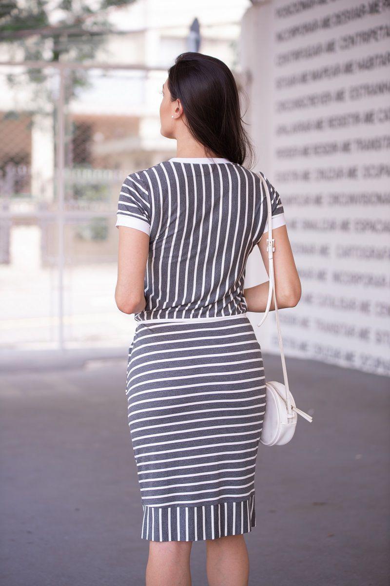 Vestido em Malha Listrada Luciana Pais 92362
