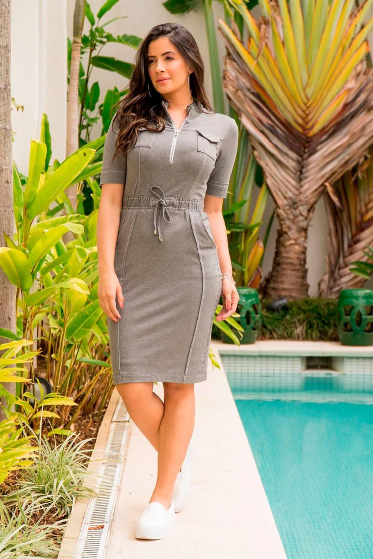 Vestido Moletom com Bolso Luciana Pais 92874
