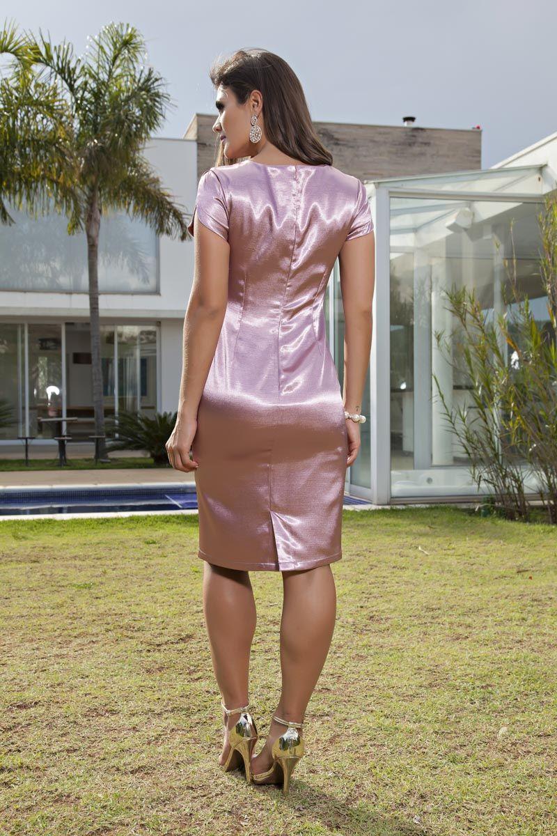 Vestido em Shantung Kauly 2116