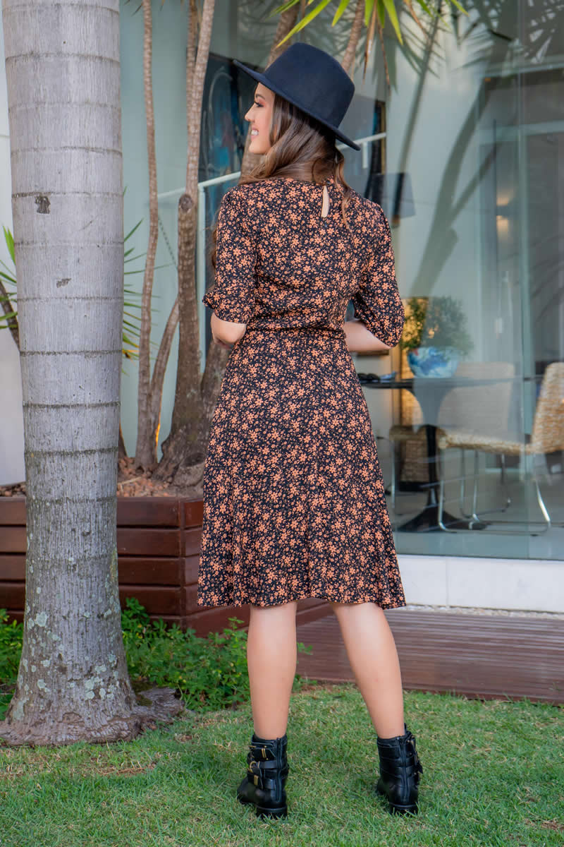 Vestido em Viscolinho Luciana Pais 93025