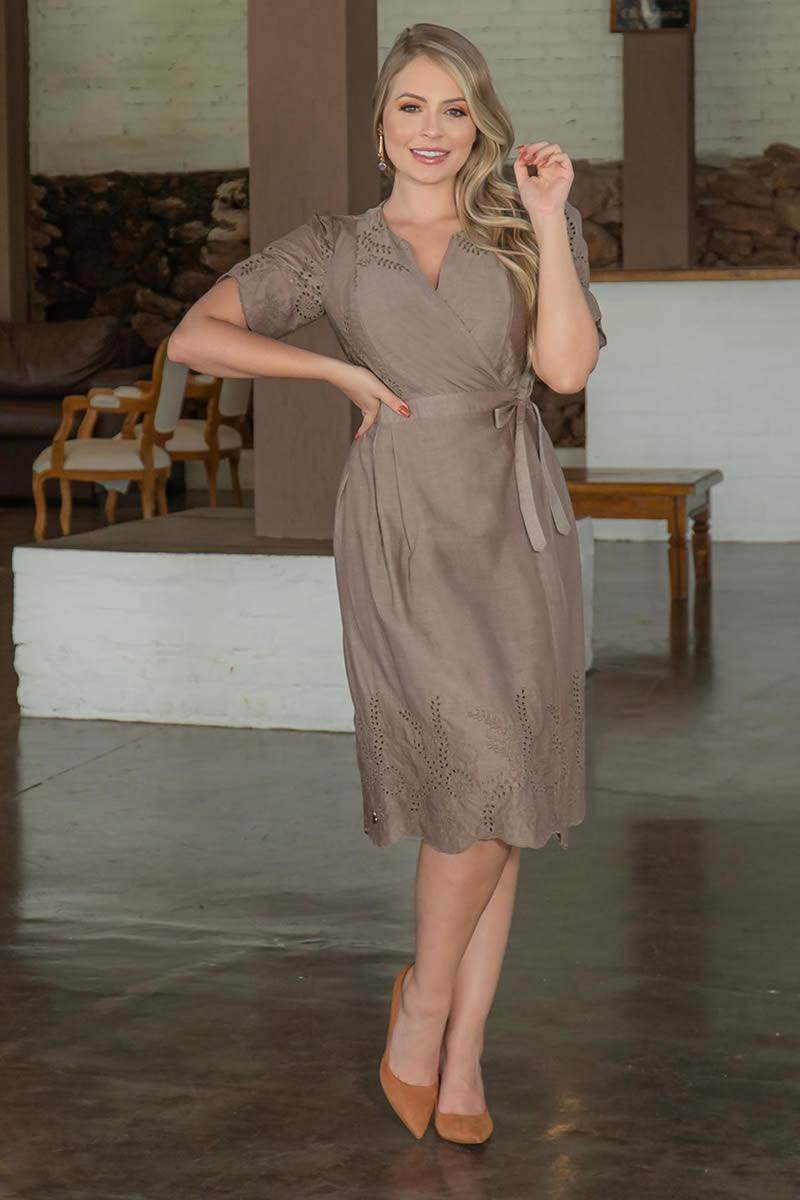 Vestido Kauly Laise com Transpasse 3050