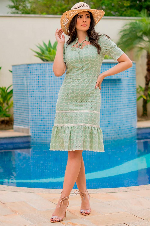 Vestido Laise com Decote Princesa Luciana Pais 92842
