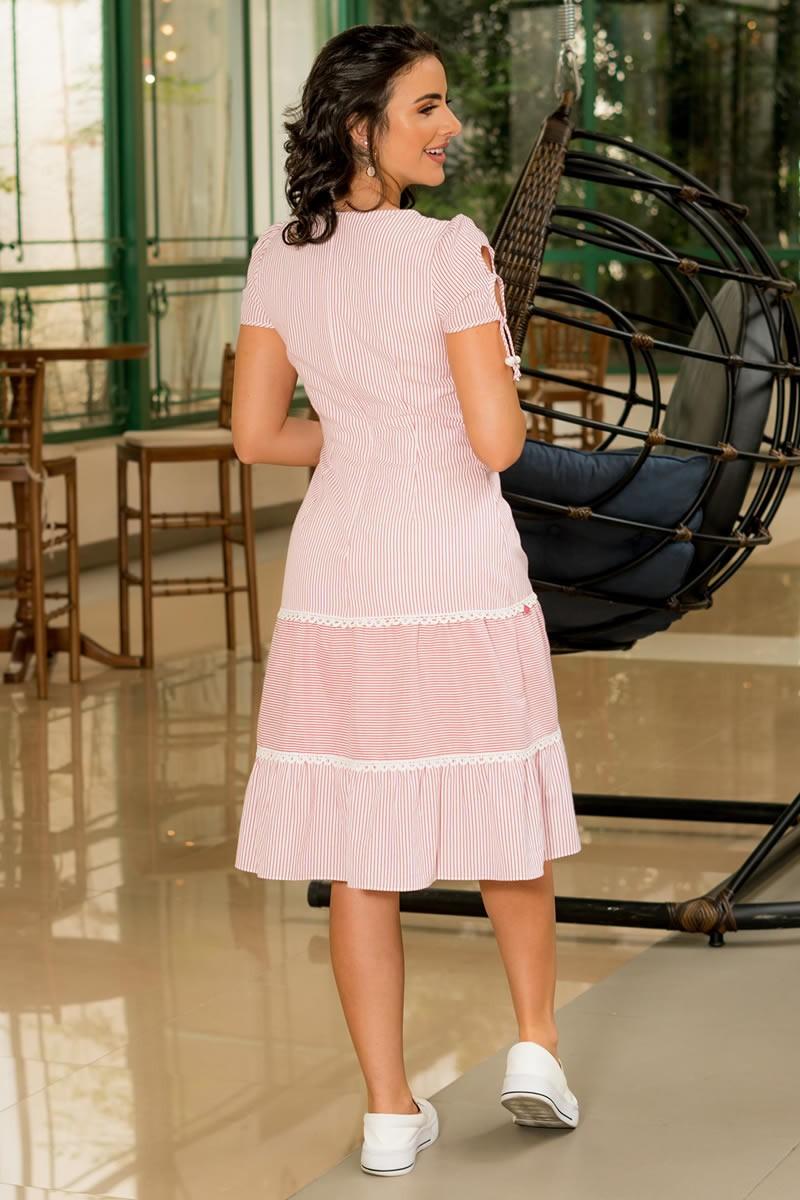 Vestido Luciana Pais Camisaria Listrada 92911 Listrado